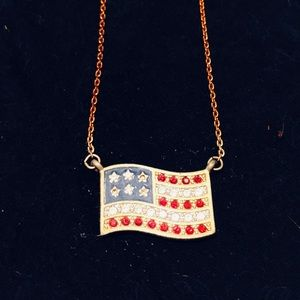 Avon American Flag Necklace